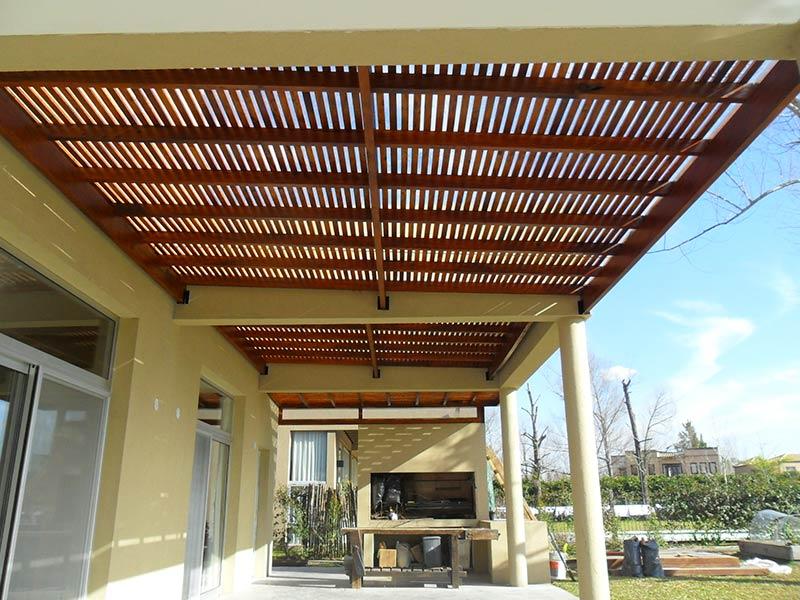 Deco exterior pergolas y decks - Construccion de pergolas de madera ...